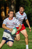 Rugby Teammates. Rugby players in action in Redding, California Royalty Free Stock Photo