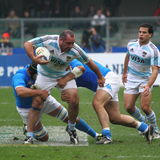 Rugby test match 2010: Italy vs Argentina (16-22) Royalty Free Stock Images