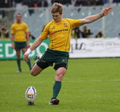 Rugby test match 2010: Italy vs Australia Royalty Free Stock Images