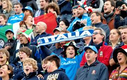 Rugby test match Italy vs Australia Stock Images