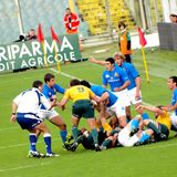 Rugby test match Italy vs Australia Royalty Free Stock Image