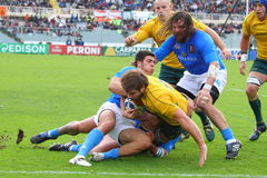 Rugby-Testmatch 2010: Italien gegen Australien Stockfotografie