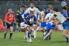 Rugby-Testmatch Italien gegen Samoa-Inseln; Tuilagi Stockfotografie
