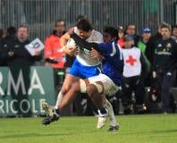 Rugby-Testmatch Italien gegen Samoa-Inseln; Zanni lizenzfreie stockfotos
