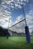 Rugby-Torpfosten Stockfotos