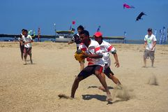 Rugby tournament on the beach Royalty Free Stock Photos