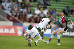 rugby v för liga för bradford tjurharlequins Arkivfoto