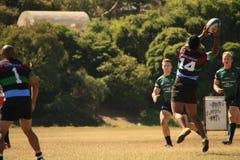 Rugby 7 voetbalgebied Stock Foto