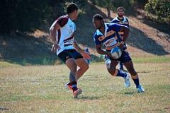 Rugby 7 voetbalgebied stock fotografie