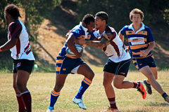 Rugby 7 voetbalgebied stock foto's