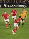 Rugby-Weltcup Australien 2011 gegen Wales Lizenzfreie Stockfotografie