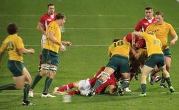 Rugby-Weltcup Australien 2011 gegen Wales Lizenzfreie Stockfotos