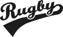 Rugby word retro Royalty Free Stock Photos