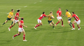 Rugby World Cup 2011 Australia versus Wales Royalty Free Stock Photo