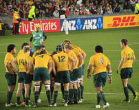 Rugby World Cup 2011 Australia versus Wales Royalty Free Stock Photography