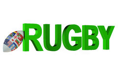 Rugby World Cup concept Royalty Free Stock Photography
