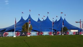 Rugby world cup 2015 Fanzone Marquee Tent Stock Image