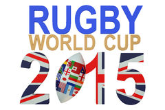 Rugby World Cup 2015 Great Britain concept. Isolated on white background Stock Image