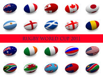Rugby World Cup - Participating Nations Royalty Free Stock Image