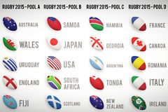 Rugby world cup pools Royalty Free Stock Images