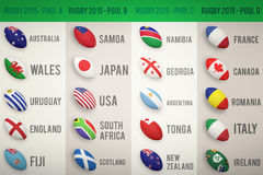 Rugby world cup pools Stock Images