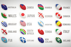 Rugby world cup pools Stock Photography