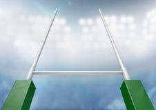 Rugby Wysyła stadium noc Fotografia Stock