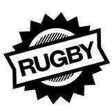 Rugby zwarte zegel stock illustratie