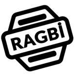 Rugby zwarte zegel vector illustratie