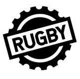 Rugby zwarte zegel royalty-vrije illustratie