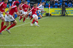 Rugbyabgleichung Lizenzfreies Stockbild