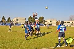 Rugbyabgleichung Cus Torino gegen Rugby Paese stockfotos