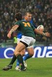 Rugbyabgleichung Italien gegen Südafrika - Craig Gower Stockbild