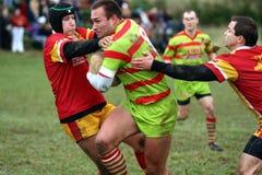Rugbyabgleichung zwischen Vereya und sich fortbewegenden Teams Lizenzfreies Stockfoto