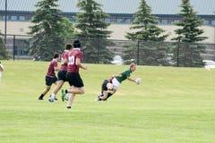 Rugbyactie Stock Afbeelding