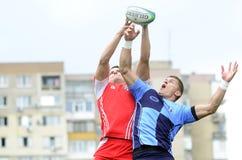 Rugbyactie stock foto
