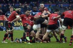 Rugbyactie stock fotografie