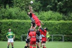 Rugbyactie - lijn uit royalty-vrije stock afbeelding