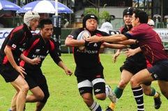 Rugbyaktion Lizenzfreies Stockbild
