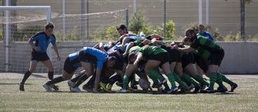 Rugbyamateur mele Stockfotografie