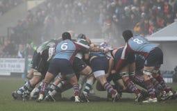 Rugbyanschluß Stockfoto