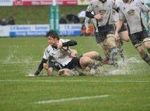 Rugbyanschluß Stockfotografie