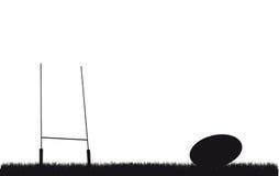 Rugbybakgrund Fotografering för Bildbyråer
