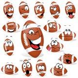 Rugbyboll vektor illustrationer