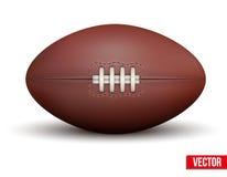 Rugbyboll som isoleras på en vit bakgrund Arkivfoton