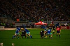 RugbyCattolica match Italien - allt svart royaltyfri bild