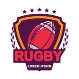 Rugbyembleem, Amerikaans Logo Sport Stock Afbeeldingen
