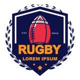 Rugbyembleem, Amerikaans Logo Sport Royalty-vrije Stock Foto's