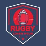 Rugbyembleem, Amerikaans Logo Sport Stock Foto's