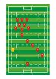 Rugbyfeld Stockfotos
